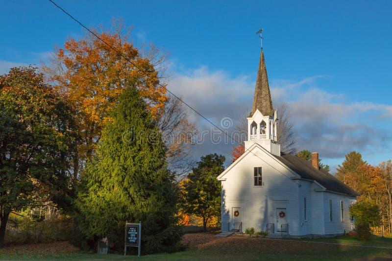 Igreja de Nova Inglaterra imagem de stock