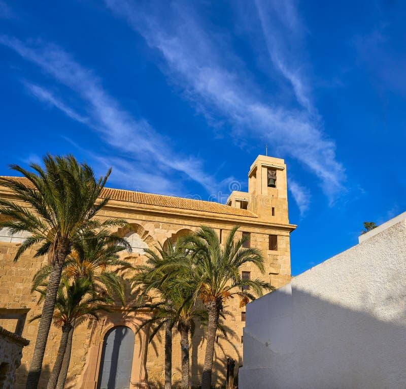 Igreja de Nova Tabarca na Espanha de Alicante foto de stock
