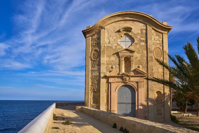 Igreja de Nova Tabarca na Espanha de Alicante imagens de stock