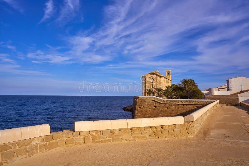 Igreja de Nova Tabarca na Espanha de Alicante fotos de stock royalty free