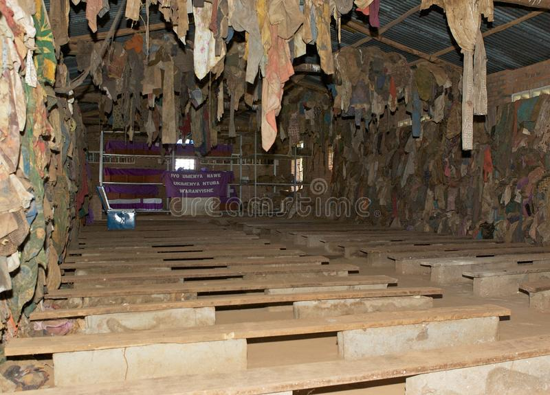 Igreja de Ntarama fotografia de stock royalty free