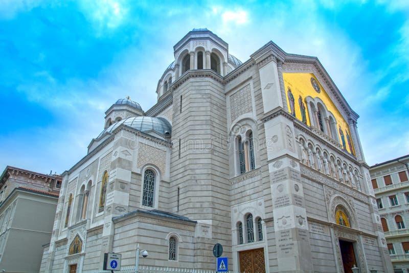 Igreja de Orhodox em Trieste imagem de stock royalty free