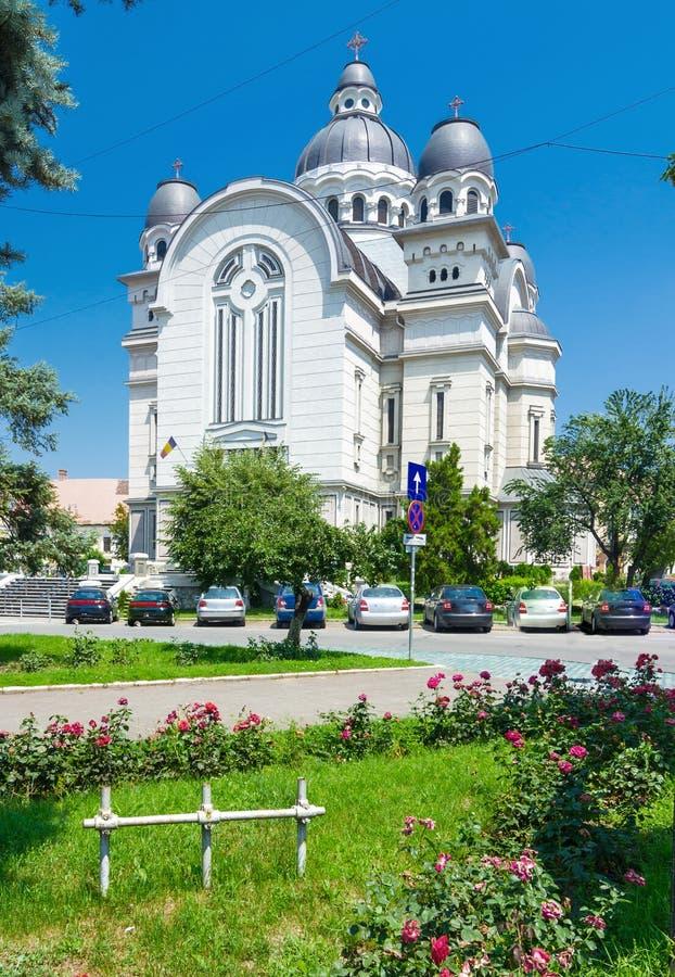 Igreja de Ortodox em Targu Mures fotografia de stock royalty free
