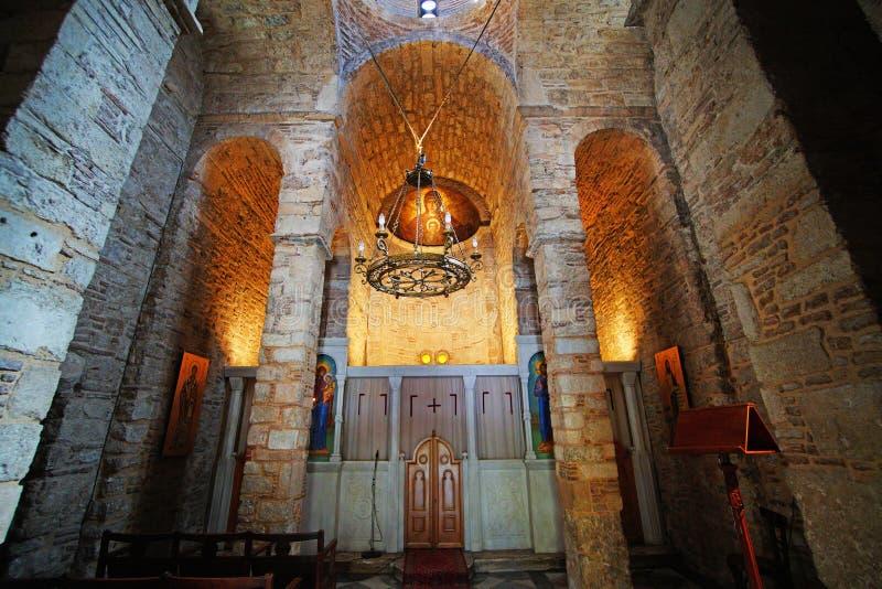Igreja de Panagia Gorgoepikoos em Atenas, Grécia foto de stock royalty free