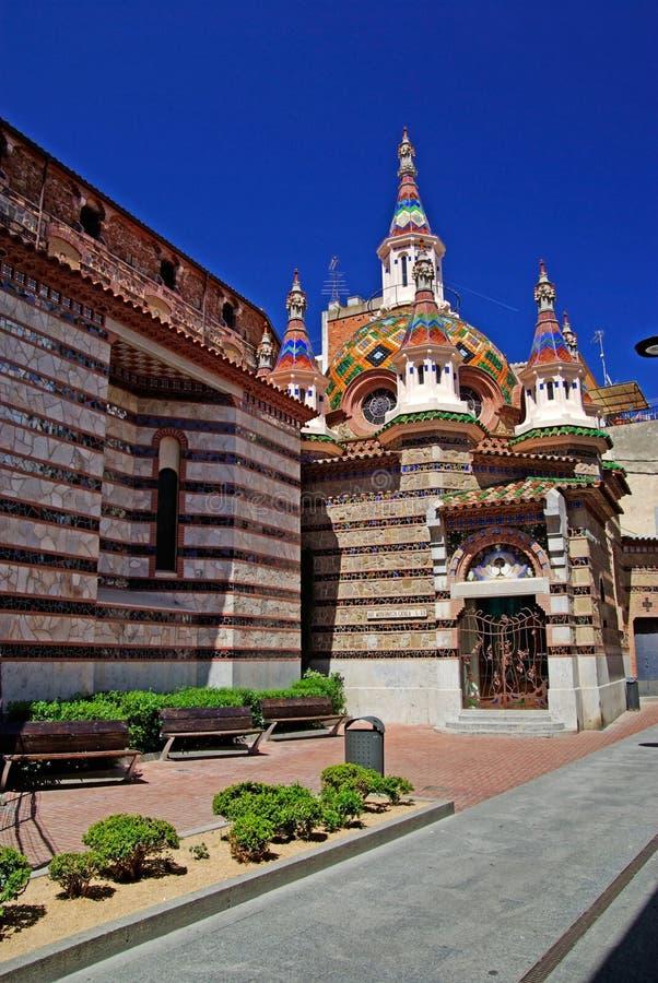 Igreja de paróquia de Sant Roma. foto de stock