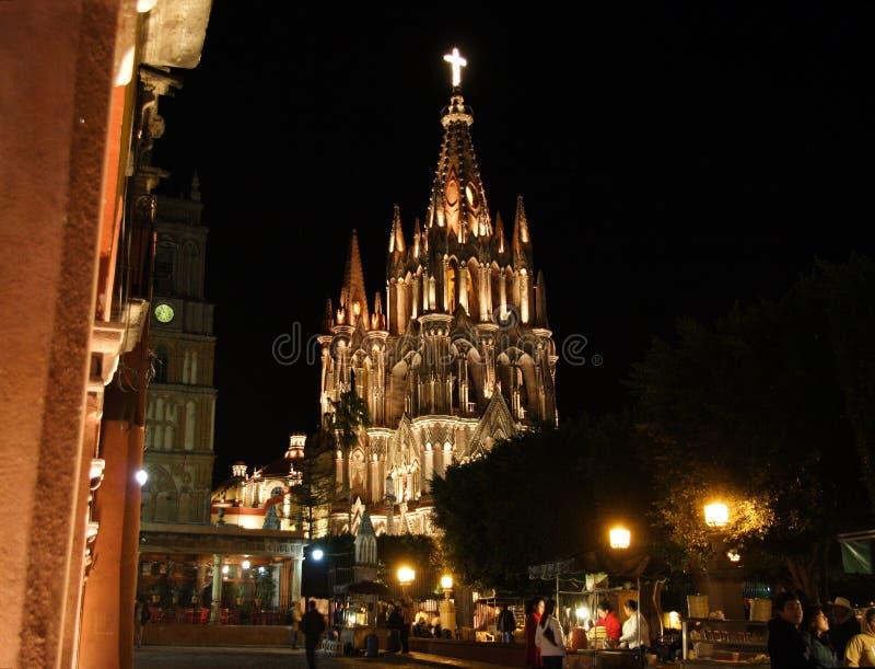 A igreja de Parroquia, San Miguel de Allende, Guanajuato, México fotografia de stock royalty free