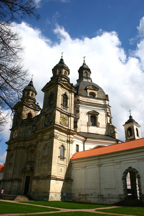 Igreja de Pazaislis, Kaunas imagens de stock