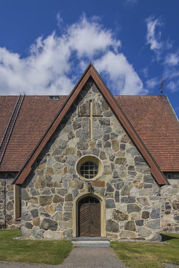Igreja de pedra velha foto de stock