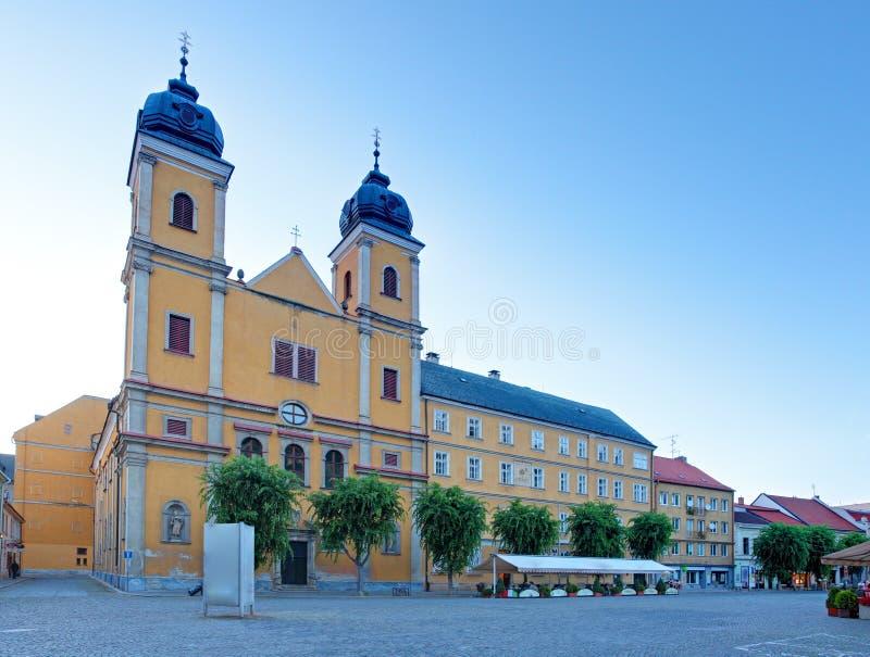 Igreja de Piaristic de St. Frantiska Xavarskeho em Trencin foto de stock