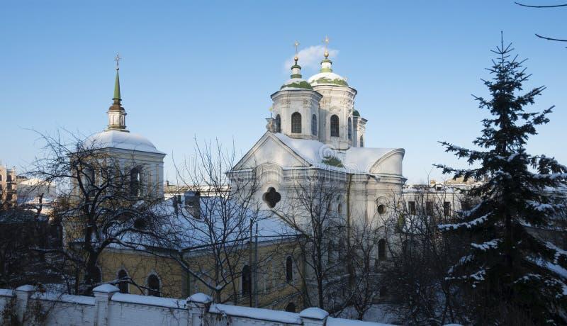 Igreja de Pokrovskaya em Kiev no Podol foto de stock royalty free