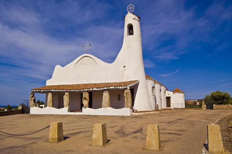 Igreja de Porto Cervo foto de stock royalty free