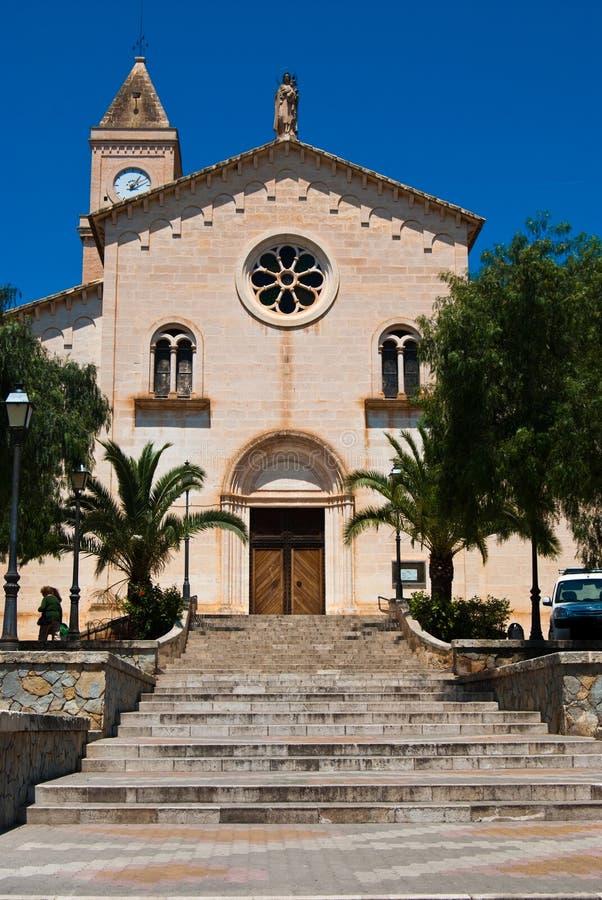 Igreja de Porto Cristo, Majorca, Spain foto de stock royalty free