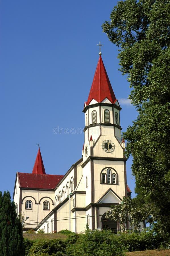 Igreja de Puerto Varas.Chile imagem de stock royalty free