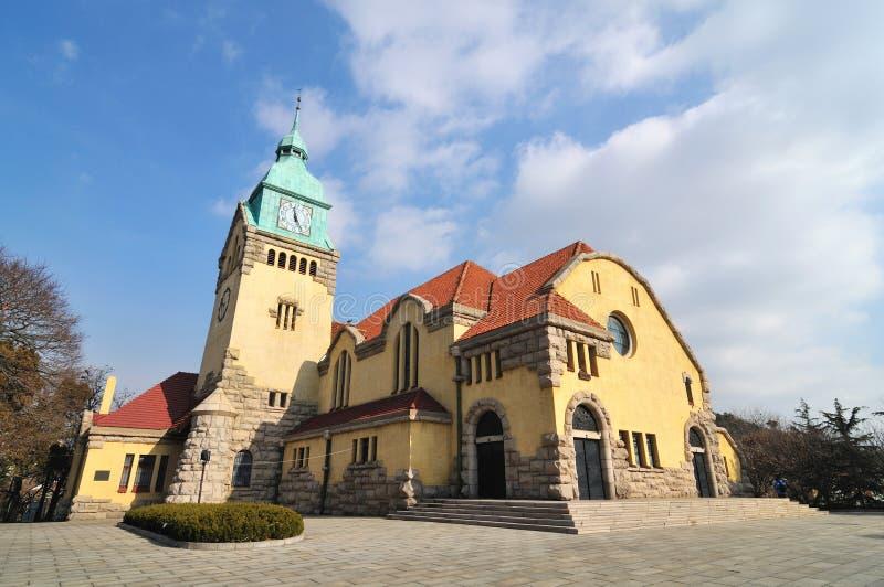 Igreja de Qingdao Christ foto de stock royalty free