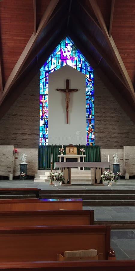 Igreja de Roman Catholic imagem de stock
