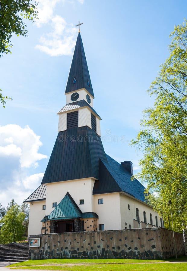 Igreja de Rovaniemi, Lapland finlandês, Finlandia foto de stock royalty free