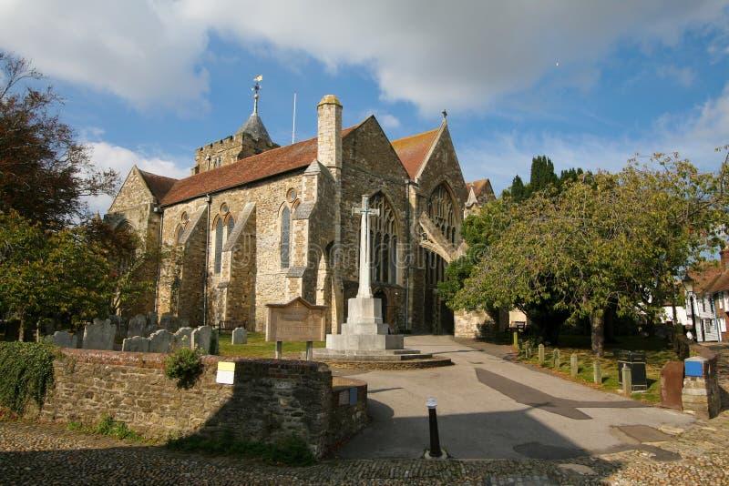 Igreja de Rye, Inglaterra fotos de stock royalty free