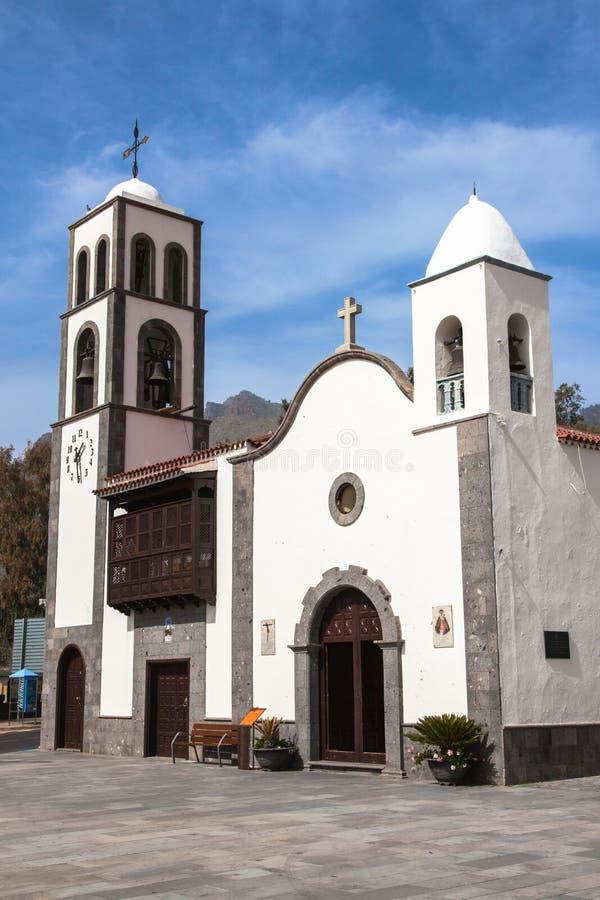 Igreja de São Fernando em Santiago del Teide. Tenerif imagem de stock royalty free