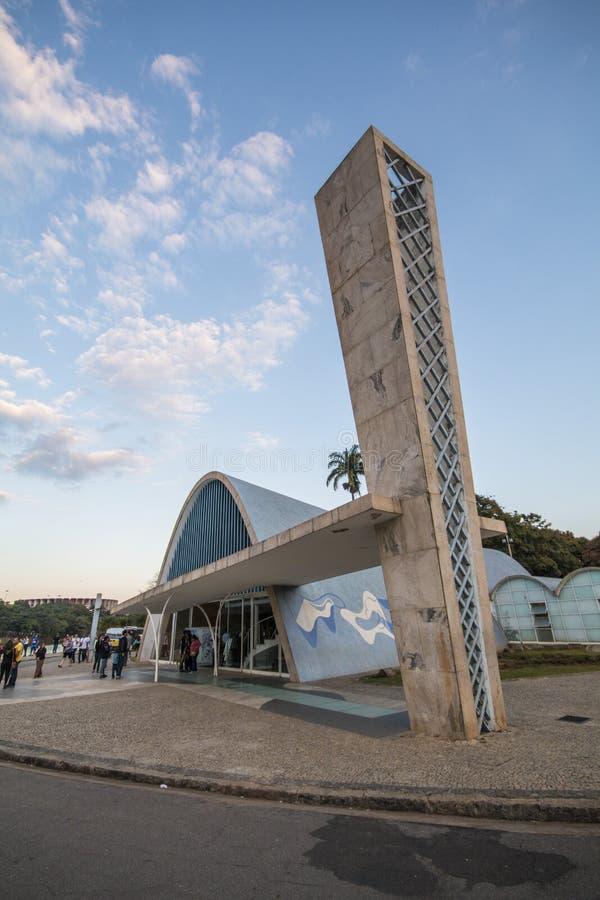 Igreja de São Francisco de Assis - lago Pampulha foto de stock