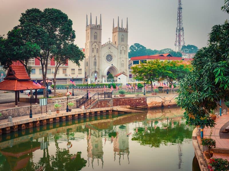 Igreja de São Francisco Xavier Melaka, Malásia fotos de stock