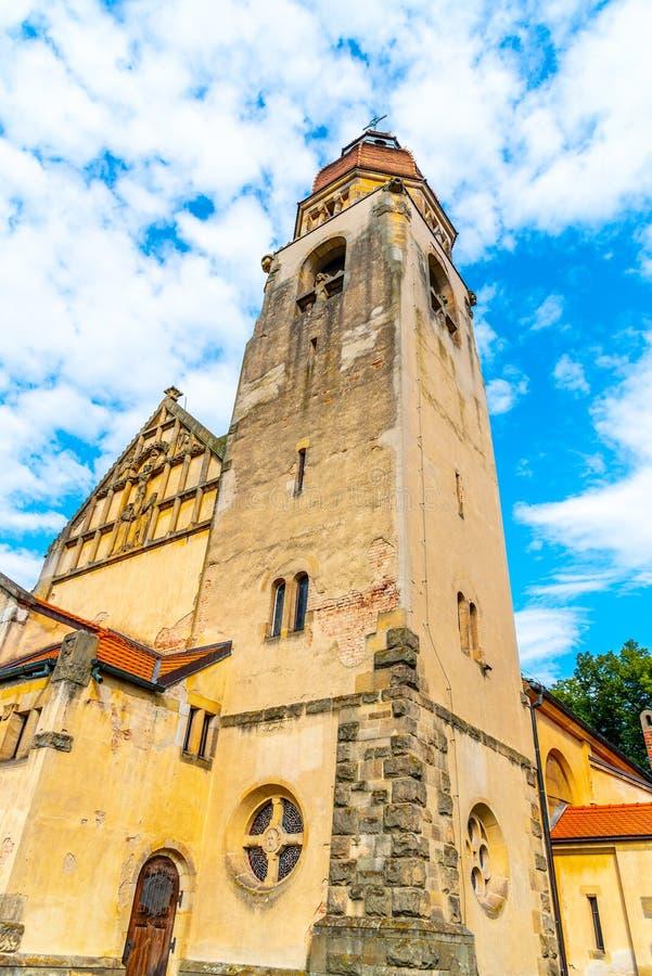 Igreja de São João de Nepomuk em Stechovice, perto de Praga, República Checa foto de stock royalty free