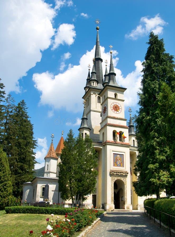 Igreja de São Nicolau em Brasov fotografia de stock