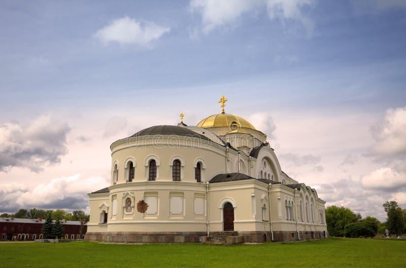 Igreja de São Nicolau na fortaleza de Bresta fotografia de stock royalty free