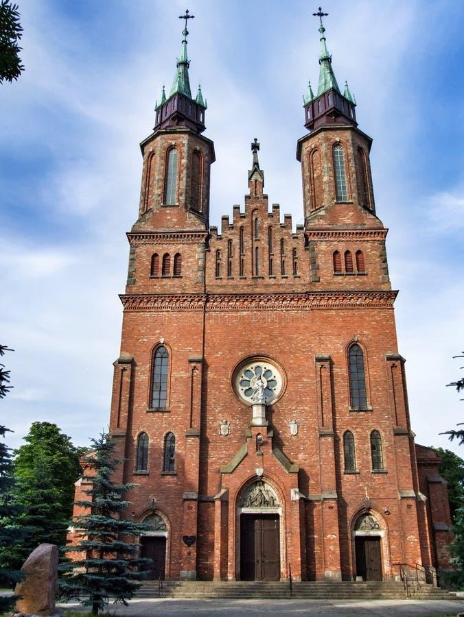 Igreja de Saint Bartholomew e santo Andrew Apostles em Ocieck, Polônia ilustração royalty free