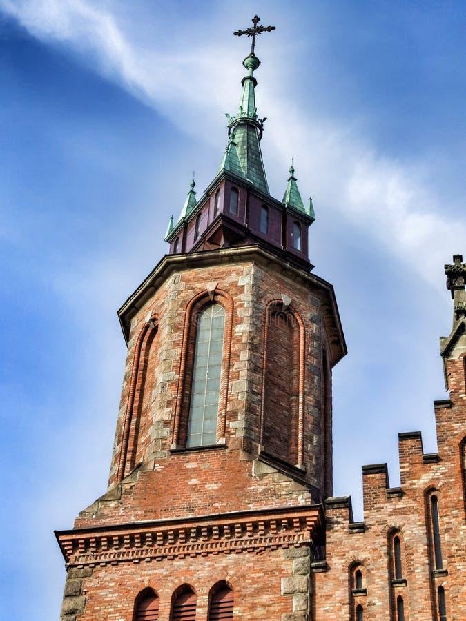 Igreja de Saint Bartholomew e santo Andrew Apostles em Ocieck, Polônia ilustração do vetor