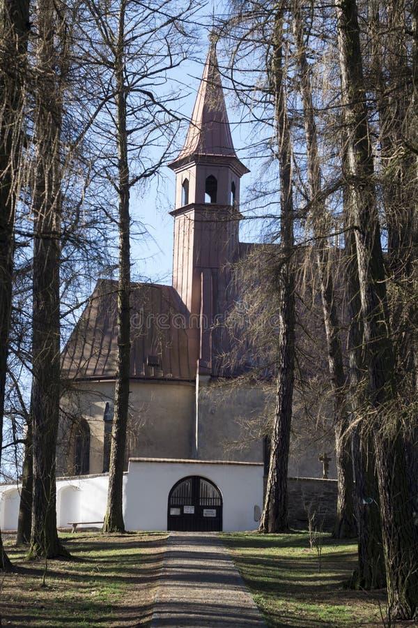 Igreja de Saint Catherine, Polna, República Checa foto de stock