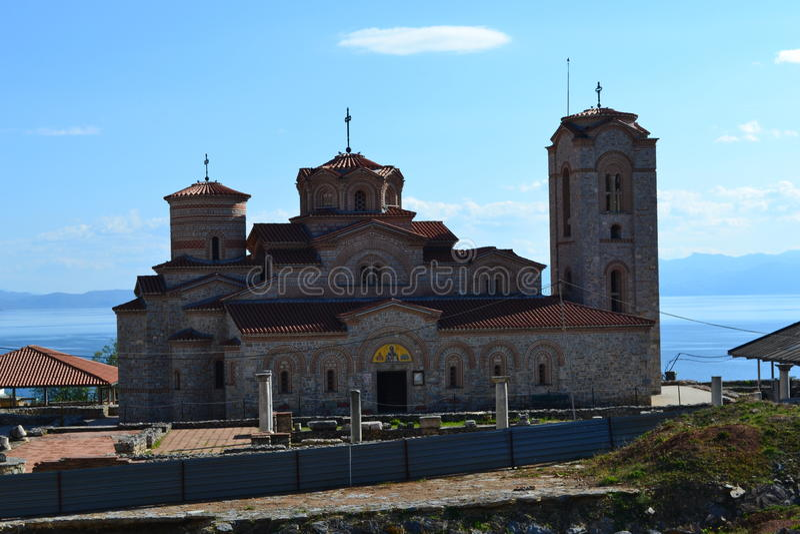 Igreja de Saint clementes e de Panteleimon, Plaosnik fotos de stock