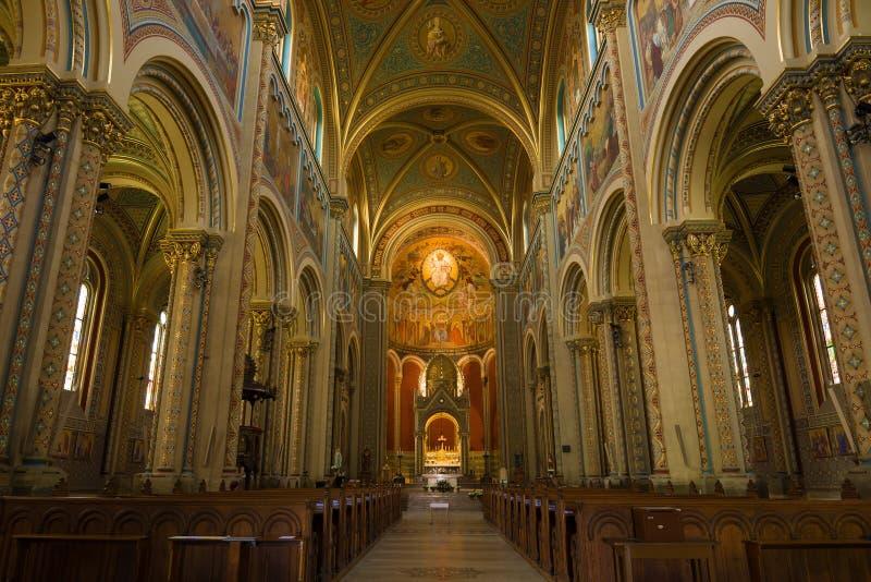 Igreja de Saint Cyril e Methodius em Carlin praga imagens de stock royalty free