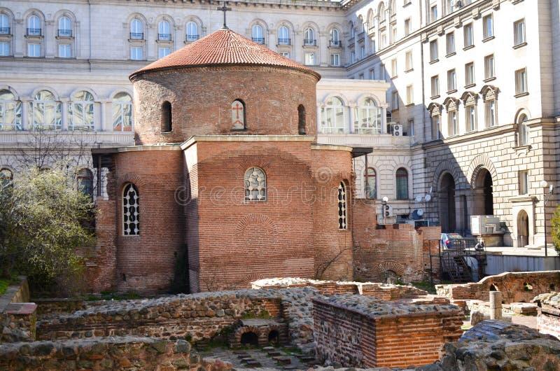 Igreja de Saint George, Sófia fotografia de stock royalty free