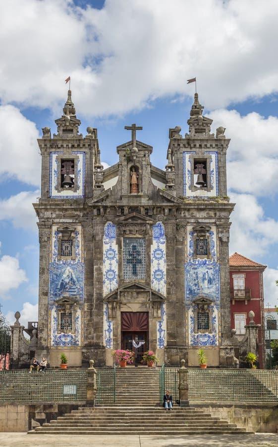 Igreja de Saint Ildefonso no centro histórico de Porto imagem de stock