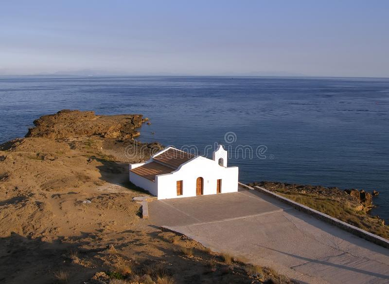 Igreja de Saint Nikolas na ilha de Zakynthos, Grécia imagem de stock