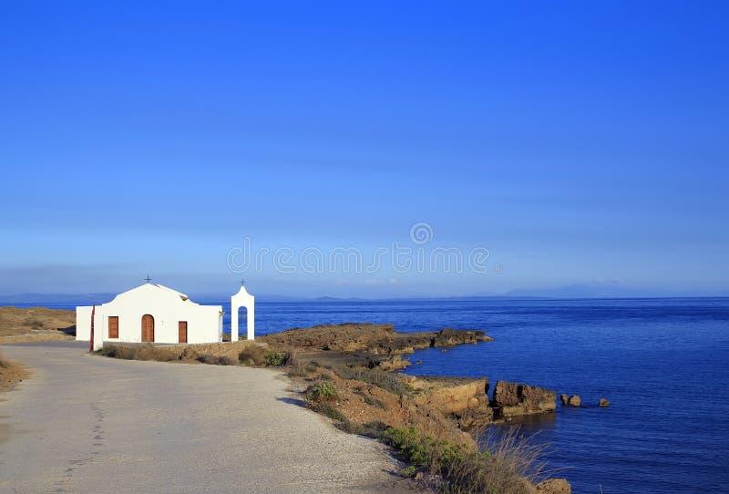 Igreja de Saint Nikolas na ilha de Zakynthos, Grécia fotografia de stock