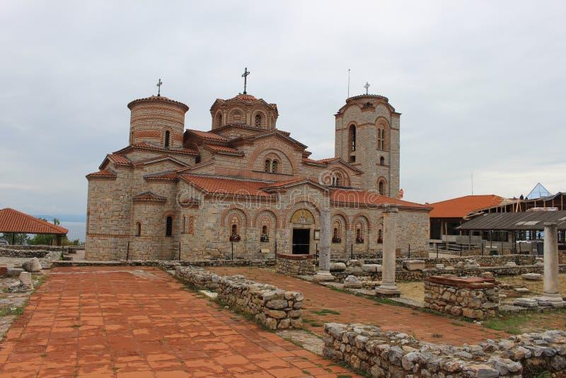 Igreja de Saint Panteleimon & de St Clement - Ohrid fotos de stock royalty free