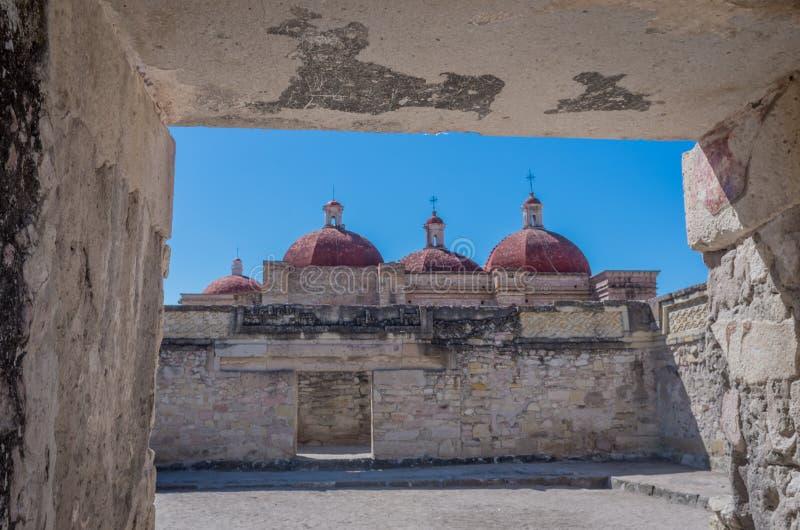 Igreja de Saint Paul em Mitla, Oaxaca, México imagem de stock royalty free