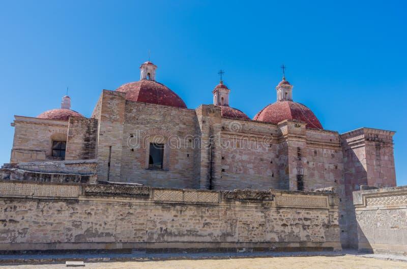 Igreja de Saint Paul em Mitla, Oaxaca, México fotos de stock royalty free