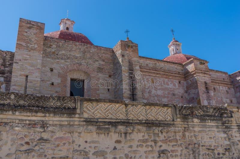 Igreja de Saint Paul em Mitla, Oaxaca, México fotos de stock