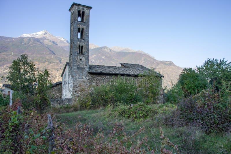 Igreja de Saint Saturnin, Susa Itália imagem de stock