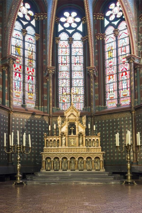 Igreja de Sainte Marie-Madeleine em Bruxelas foto de stock