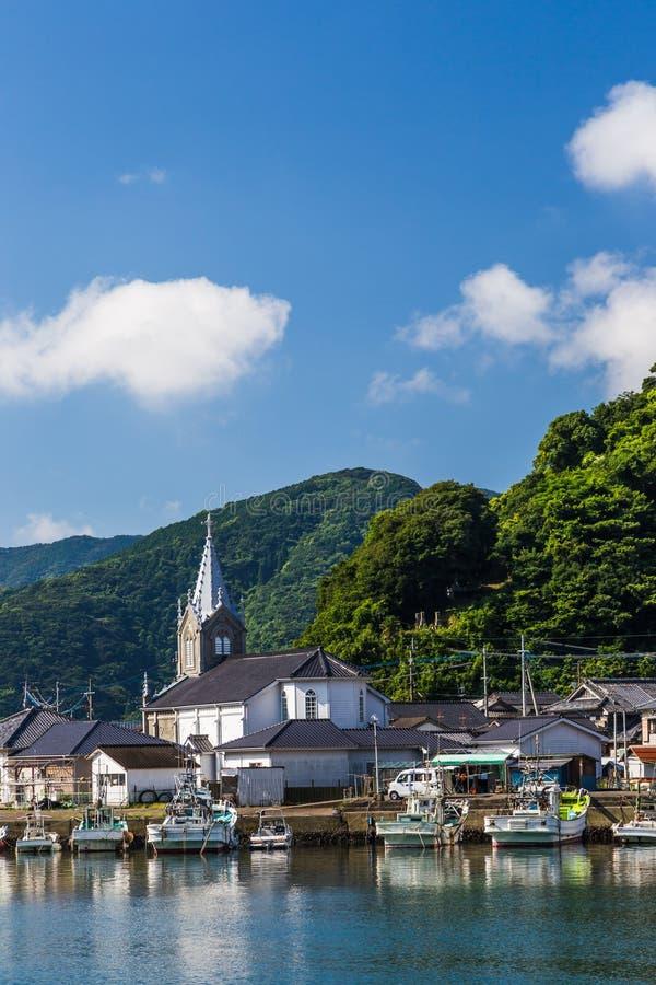 Igreja de Sakitsu em Amakusa, Kyushu, Japão imagens de stock royalty free
