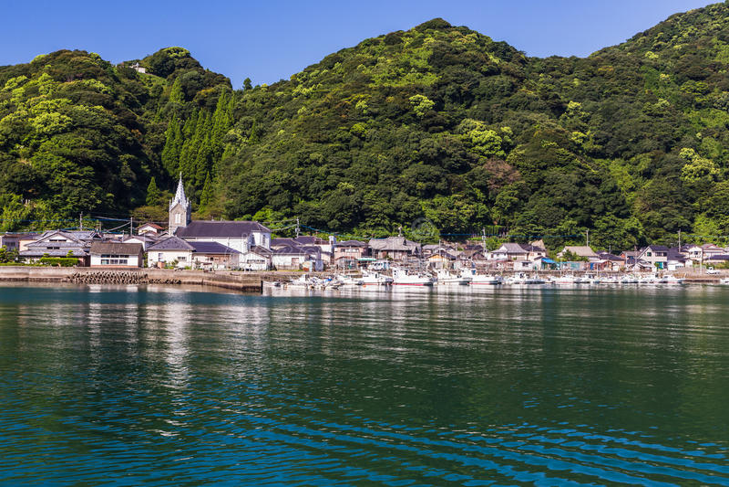 Igreja de Sakitsu em Amakusa, Kyushu, Japão foto de stock royalty free