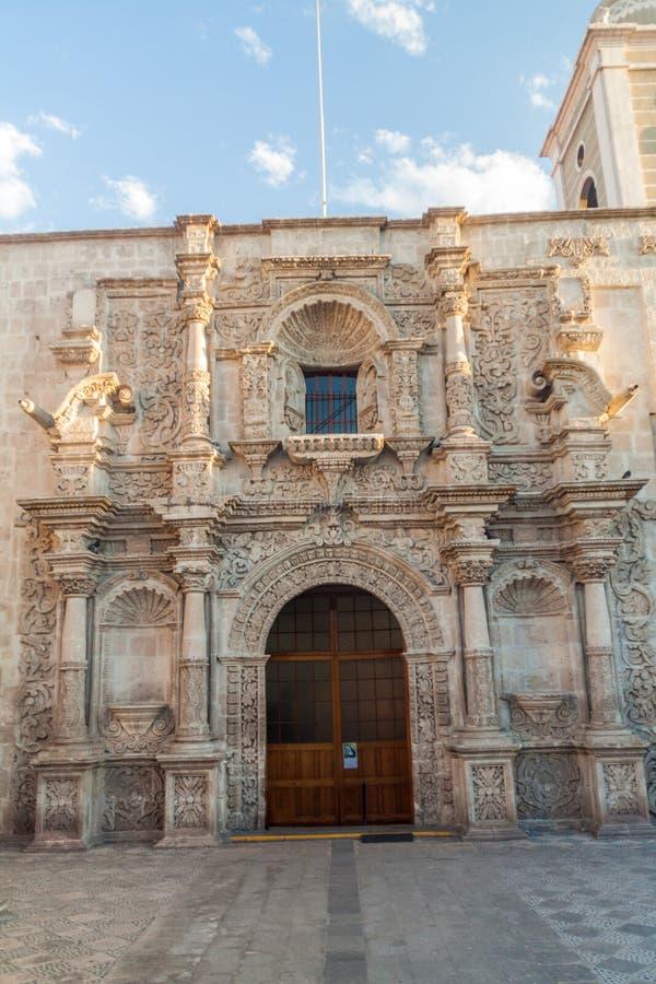 Igreja de San Agustin em Arequipa, Peru fotografia de stock royalty free