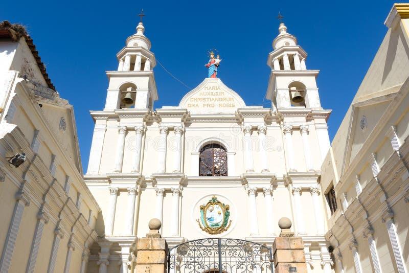 Igreja de San Agustin, sucre, Bolívia fotografia de stock