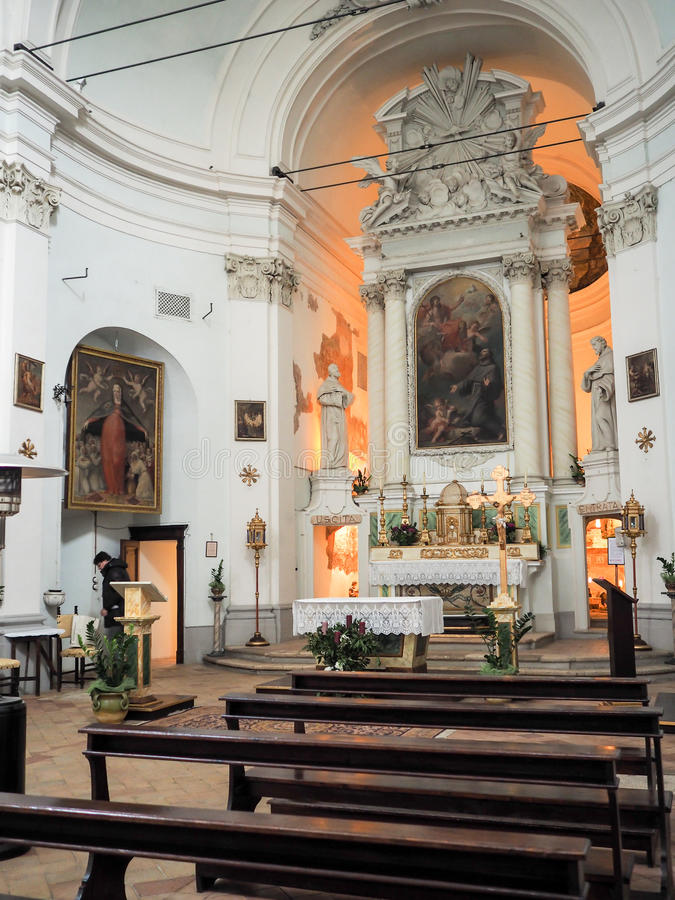 A igreja de San Francesco em Bevagna imagens de stock