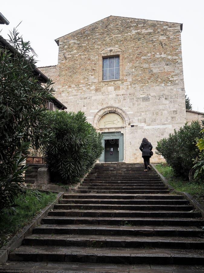 A igreja de San Francesco em Bevagna fotografia de stock royalty free