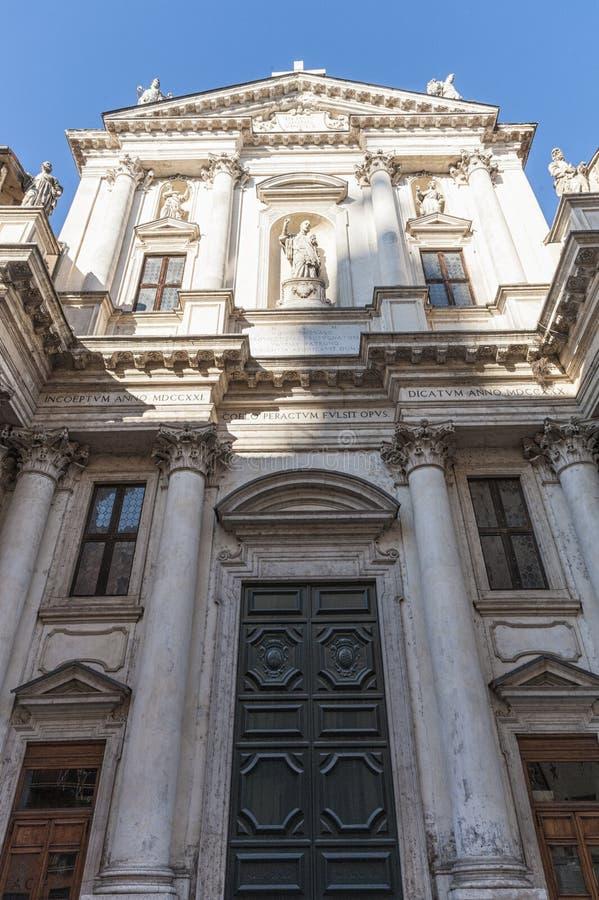 A igreja de San Gaetano Thiene, igualmente chamou o Teatini, é uma construção religiosa, situada em Vicenza ao longo de Corso Pal imagem de stock
