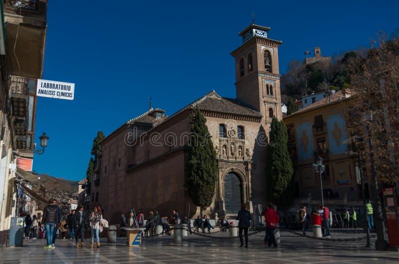 Igreja de San Gil e de Santa Ana Granada, spain fotos de stock